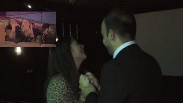 Ο Χρήστος πήγε την Έλενα σινεμά. Όμως αντί για ταινία είδαν την πρόταση γάμου που της έκανε