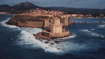 Το μεσαιωνικό κάστρο της Μεθώνης από ψηλά