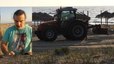 Αχαϊα: Τρακτέρ ισοπέδωσε αμμοθίνες σε προστατευόμενο υγρότοπο