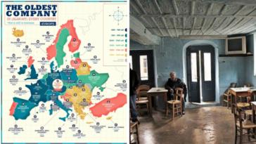 Βγήκε χάρτης με την παλαιότερη επιχείρηση κάθε χώρας. Εννοείται, στην Ελλάδα είναι καφενείο