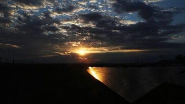 Ο κάμπος της Λάρισας το ηλιοβασίλεμα